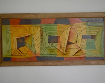 Vintage Abstract Painting - Mid Century Modern
