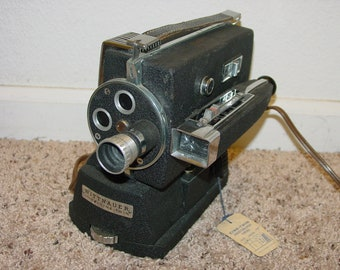 Vintage Cine-Twin Zoom Model WD 400 8mm Movie Camera / Projector USA