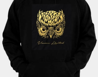 Vanoss 2 Owl inspired gold logo hoodie