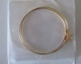 Set of 2 large rings for earrings - gold color - size 4 cm