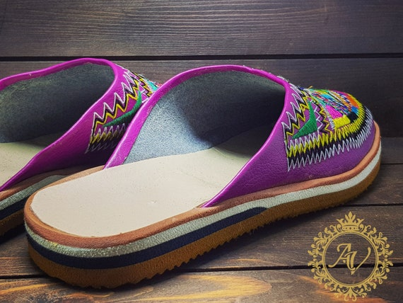 c3982ef916aec Traditional Handmade Babouche From Shoes Leather Fashion Mules ...