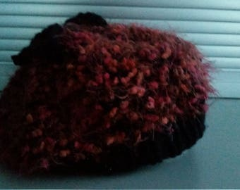 Curly beret or hat