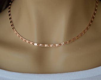 Rose Gold necklace,Rose Gold chain.