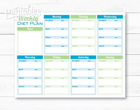 weekly meals planner