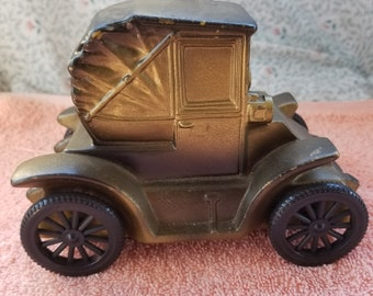"Vintage Plastic Old Car The First 1900 - 5.75"" Long 4"" Tall 3.5"" Wide"