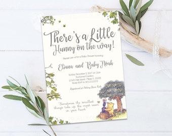 Winnie the Pooh Baby Shower Invitation, Classic Winnie the Pooh Baby Shower Invitation, Winnie the Pooh Boy Girl Gender Neutral Invitation