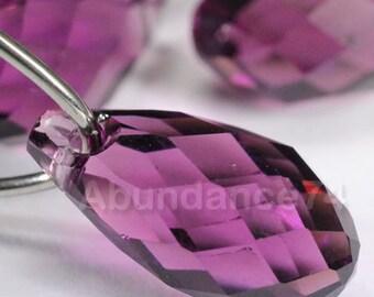 Swarovski Crystal Pendants 11mm Briolette Pendant Teardrop 6010 AMETHYST ( Chose Quantity)