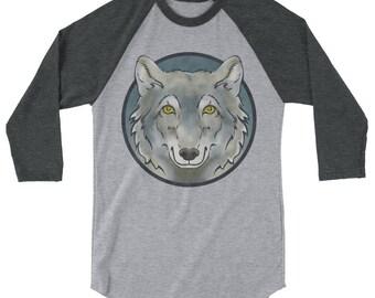 Wolf Totem 3/4 sleeve raglan shirt