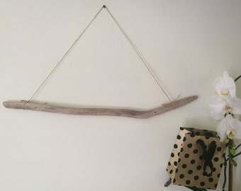 "Beige Wood Dowel For Weaving & Macrame Wall Hanging.  Drift Wood Piece Driftwood Stick 24.5"""