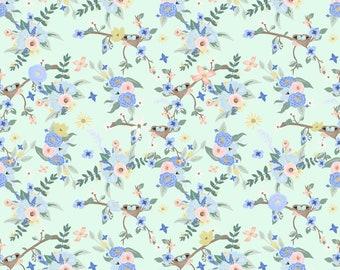 Bey's Garden Mint Floral Patterned Vinyl Vibrant Vinyl™ - Adhesive Vinyl + Heat Transfer Vinyl Heat Transfer Vinyl Sheet, Pattern HTV