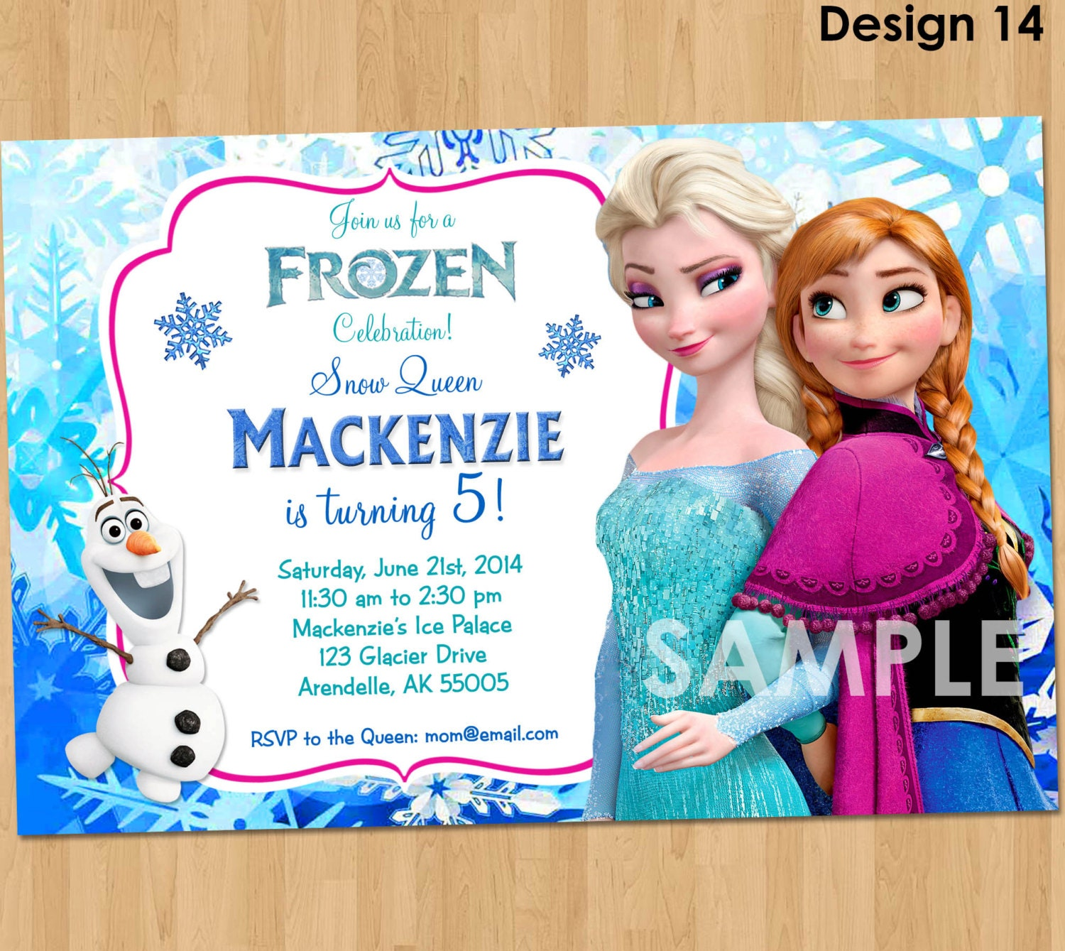 Persnickety image within printable frozen birthday invitations