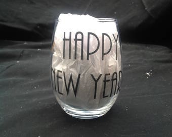 Happy New Year Stemless