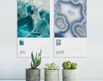 Mineral Photography Calendar 2018, Mineral Rocks, 2018 Calendar, Macro Photography, Wall Decor, Photo Calendar, Home Gifts, Printed. MWCAL1