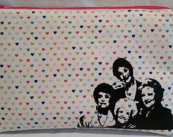 Golden girls inspired thank you for being a friend  large padded zipper pouch
