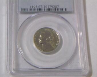 1963 PCGS PR 67 Jefferson Nickel