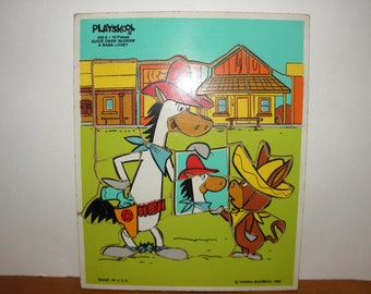 Quick Draw McGraw & Baba Looey Wooden Puzzle