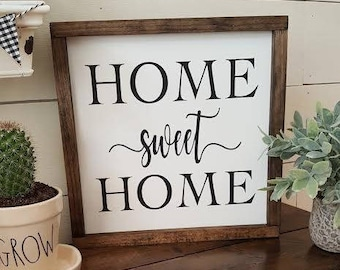 Handcrafted Wood Sign - Home Sweet Home