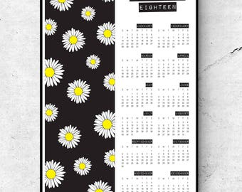 DAISY 2018 CALENDAR / 11x17 Wall Art Print