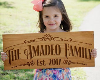 Personalized Wood Sign, Wedding Established Sign, Rustic Wood Sign, Wooden Signs, Lake House Decor, Benchmark Custom Signs, Cherry TV