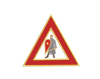 """Royal Arch Masons - Standard Set - Complete Set of Officer Badges - Embroidery Design - 3.5"""", 4"""", 5"""" and 6"""""""