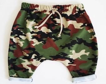 Baby Camo Pants, Baby Boy Harem Pants, Toddler Boy Harems, Baby Boy Shorts, Toddler Harem Shorts, Baby Joggers, Boys Harems, Hipster Baby