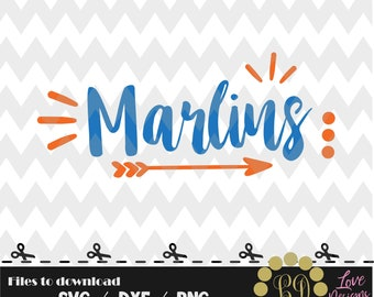 Marlins svg,png,dxf,cricut,silhouette,college,jersey,shirt,proud,cut,university,baseball,softball,arrow,decal,state,miami,florida,gators