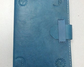 Sun/Moon refillable leather journal