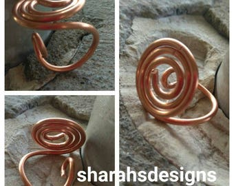 Unique  ring African jewerly,copper jewerly,funky,eccentric,unique, adjustable