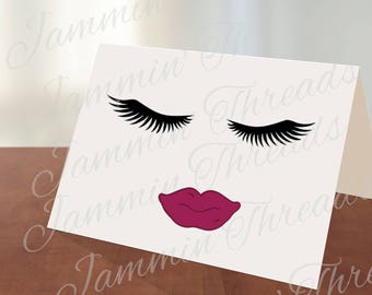 Ask me about my lashes / Younique / eyelash / notecard / printable / instant download /makeup / diy /