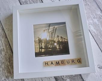 """Bild, Bilderrahmen, Collage, Fotos, verschiedene Designs """"Hamburg"""" von Frollein KarLa"""