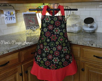 Christmas Apron with Snowflakes.  Beauty