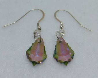 Sterling Silver Swarovski Crystal Paradise Shine Baroque Earrings