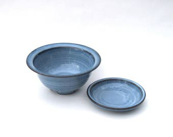 Berry Keeper Bowl - Two Piece  -- Pacifica Blue Glaze