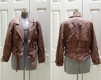 1980s Wilsons Leather Adventure Bound Jacket Size Medium w/ Zip-Out Thinsulate Lining