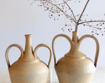 Vintage Studio Handmade Ceramic Large Bud Vase, Pottery