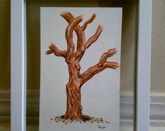 "Framed Watercolor Pencil, ""Seville Square, Pensacola"" 5.5 x 8.5"", Plein Aire"