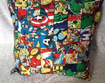 Handmade Marvel Avengers Comic Book 16 Inch Cushion Cover