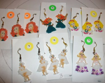 Marilyn Monroe    Barbie    Merida   Earrings Keep