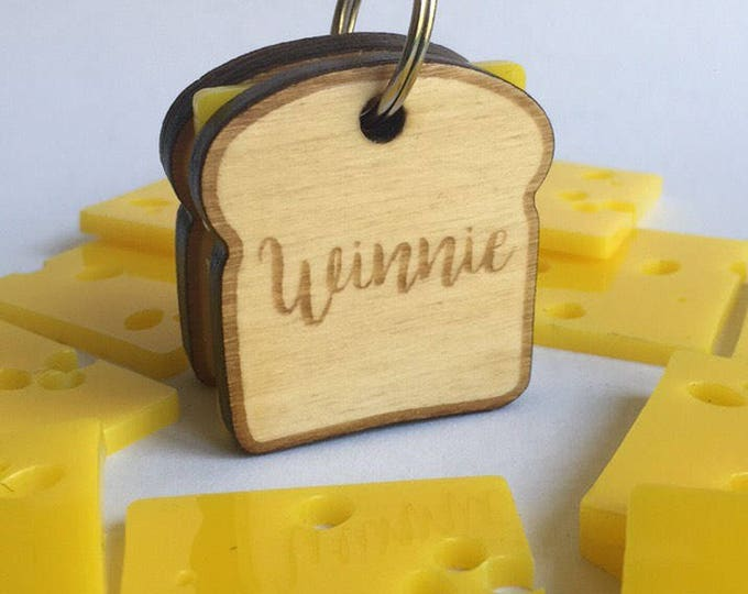 Médaillon d'identité pour chien - Sandwich au fromage