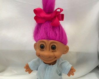 Russ Troll Doll Baby Girl in Footed Pjs  Circa 1992