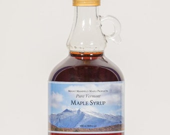 Mansfield Maple 500ml Pure Vermont Maple Syrup in Glass Bottle (Choice of Grade)