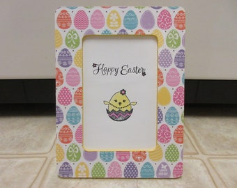 "4"" x 6"" Easter Egg Picture Frame-Easter Decor-Spring Decor"