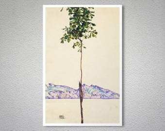 Little Tree by Egon Schiele - Poster Paper, Sticker or Canvas Print / Gift Idea