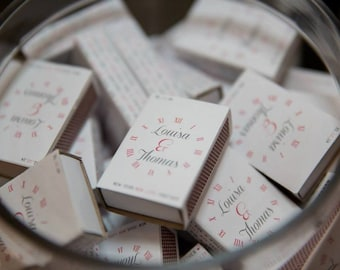 Custom stickers for wedding match boxes. 50 x Vintage Clock Design Wedding match box covers/stickers. Wedding Favor - Customised matchboxes