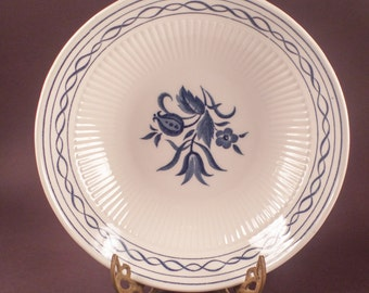 Bowl, Cereal, Salad, Ceramic,, Amcrest Concord, Ironstone, Blue, White, Ceramic, Vintage, Blue and White Dishes, Made in Japan