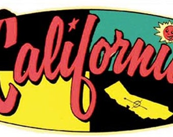 Vintage Style California Travel Decal sticker