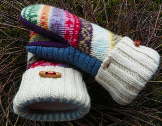 PDF MITTEN PATTERN - how to make mittens from upcycled felted wool ...