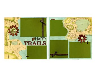 Happy Trails - Two Premade Scrapbook Pages