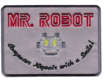 Mr. Robot Computer Repair with a Smile Decorative Cosplay Patch