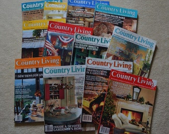 1995 Country Living Magazines, Vintage